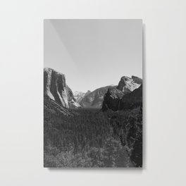 Tunnel View, Yosemite National Park III Metal Print