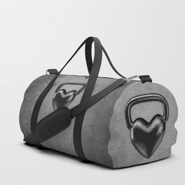 Kettlebell heart / 3D render of heavy heart shaped kettlebell Duffle Bag