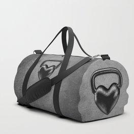 Kettlebell heart / 3D render of heavy heart shaped kettlebell Duffle Bag