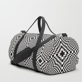 Checkered Optical Illusion Duffle Bag
