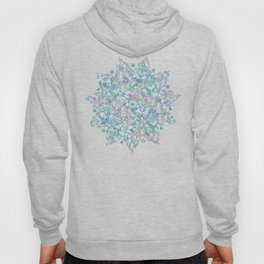 Mermaid Dreams Mandala on White Hoody