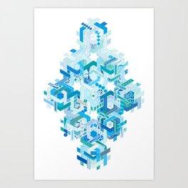 Tessellating Textures Art Print