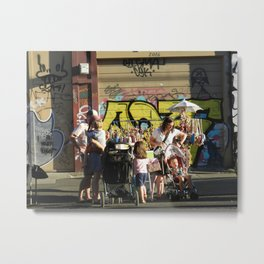 Oregon Street Vendor Metal Print