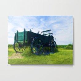 Vintage Carriage near Emery Farm Metal Print