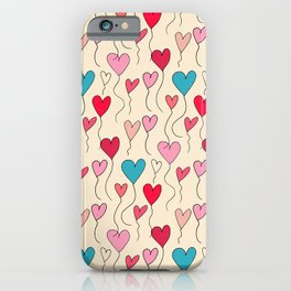 Cute Heart Balloon Pearl #Valentines iPhone Case