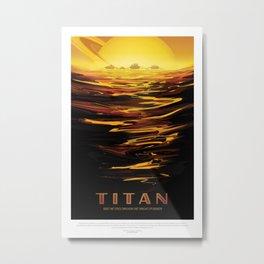 Titan - NASA Space Travel Poster Metal Print