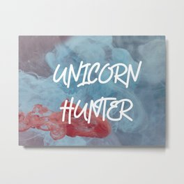 Unicorn Hunter Metal Print