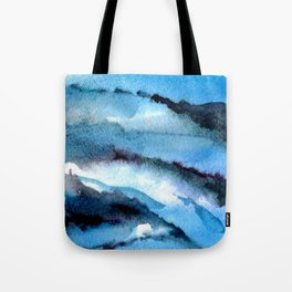 Blue marble. Tote Bag