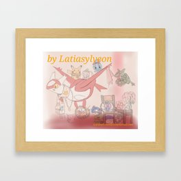 Latias' workshop with doll friends! Framed Art Print