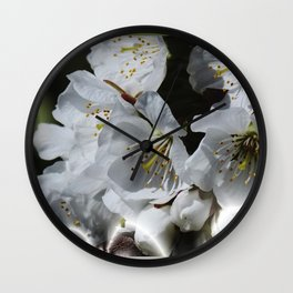 a towel for spring Wall Clock