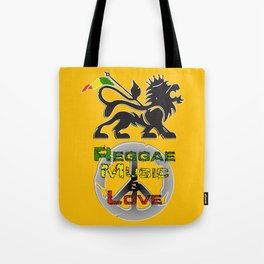 Reggae, Music & Love Tote Bag