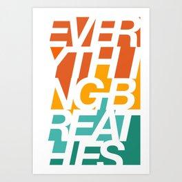 big text Art Print