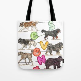 Dogs with Balloons Tote Bag