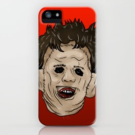 Face of Leather iPhone Case