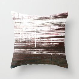 Bistre abstract watercolor Throw Pillow