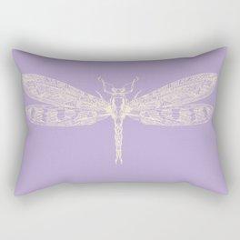Lavender Dragonfly Rectangular Pillow