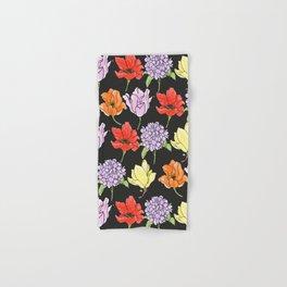 dark crowded floral Hand & Bath Towel