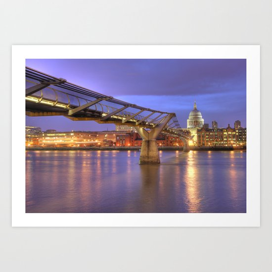 St Pauls and The Bridge Art Print