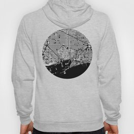 Barcelona city map black and white Hoody