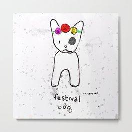 Festival Dog Metal Print
