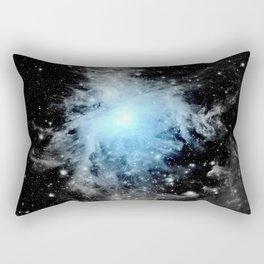 Orion nebULa Black White Blue Space Rectangular Pillow