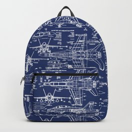 F-18 Blueprints Backpack