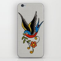 swallow iPhone & iPod Skins featuring swallow by Buffy Ino Kua