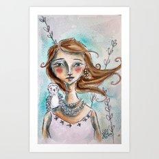 The Owl Whisperer Art Print
