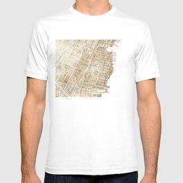 Hoboken New Jersey city map T-shirt