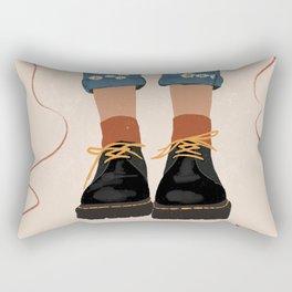 Fall Flower boots Rectangular Pillow