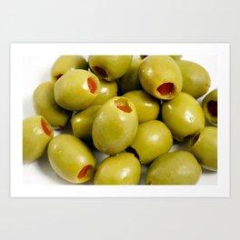 Green olives Art Print