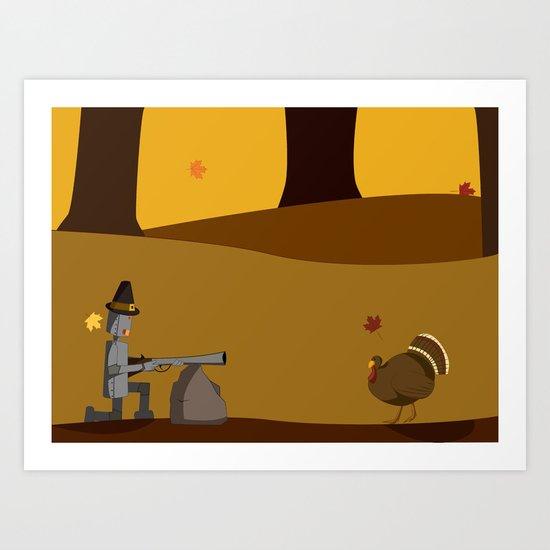 November Robot Art Print