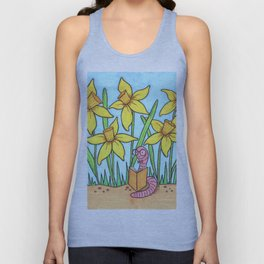 Book Worm Unisex Tank Top