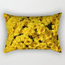 Golden Mums Rectangular Pillow