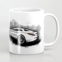 mercedes Mugs featuring Mercedes-Benz SLR McLaren 722 by an.artwrok