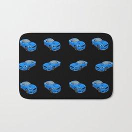 Electric Blue Mustang  Bath Mat