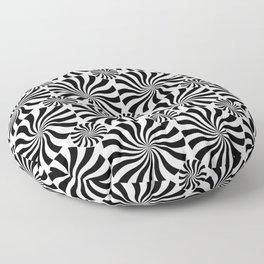 Black Twirl Floor Pillow