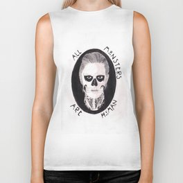 All Monsters Are Human Biker Tank