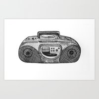 radio Art Prints featuring Radio by Rachel Zaagman