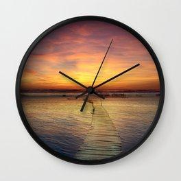 Boardwalk to Nowhere Wall Clock