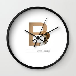 B is for Beagle Wall Clock