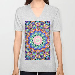 Abstract Spectral Pattern Unisex V-Neck