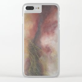 Golden Galaxy Tile Clear iPhone Case