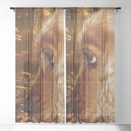 Dog Cocker Spaniel Sheer Curtain