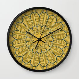 Flower Mandala V Wall Clock