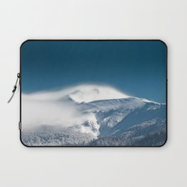 Misty clouds over snowy mountain Snežnik, Slovenia Laptop Sleeve