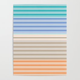 Cool Summer Stripes Poster