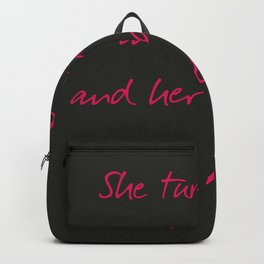 She turned her can'ts into cans, message to strong women. Inspiration typography, motivate, woman, Backpack