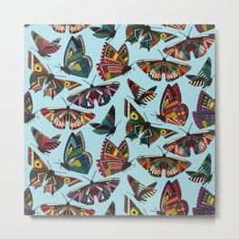 summer butterflies multi sky Metal Print