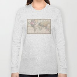 Vintage Map of The World (1856) Long Sleeve T-shirt
